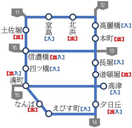 大阪都心部図