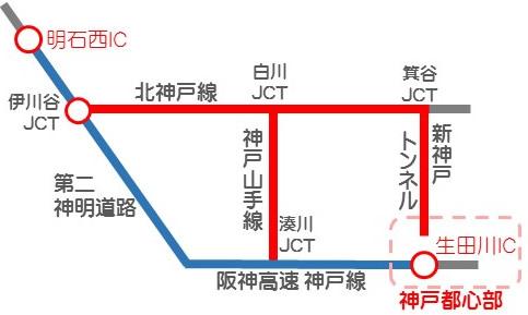神戸都心流入割引解説図